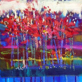Autumn Trees Ury 1 mixed media by Francis Boag