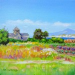 Abbey Gardens Iona, oil painting by Ed Hunter, Milton Art Gallery