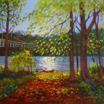 Autumn Pitlochry, oil painting by Ed Hunter, Milton Art Gallery