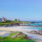 Iona Shore, oil painting by Ed Hunter, Milton Art Gallery