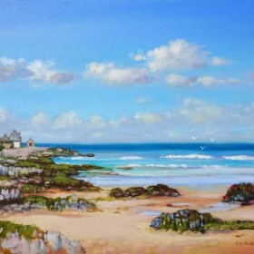 Sandend, oil painting by Ed Hunter