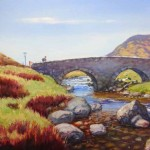 The Wee Bridge Glenshee, oil painting by Ed Hunter