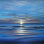 Sunset Blue, acrylic on canvas by Catriona MacEachen