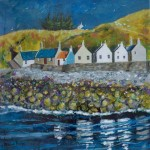 Crovie Gables acrylic painting by Deborah Phillips