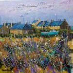 Evening Light over Boulmer acrylic painting by Deborah Phillips