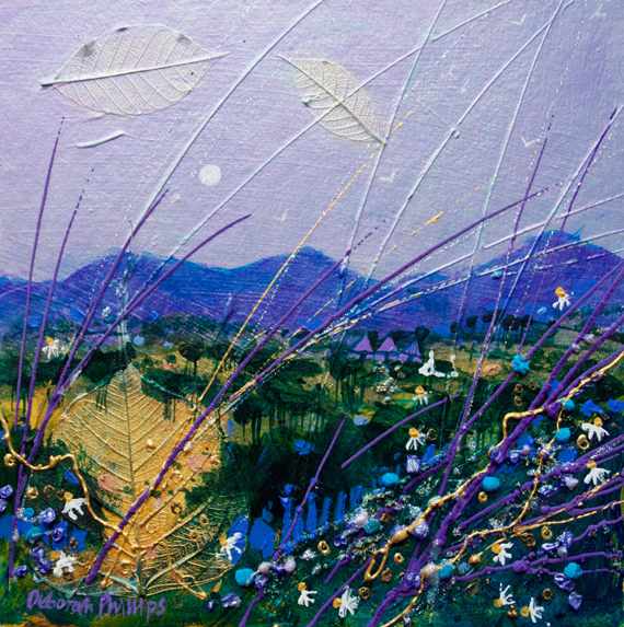 Parma Violet Sky acrylic painting by Deborah Phillips