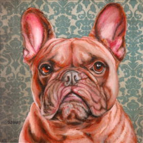 Frenchie, oil painting by Stanley Bird