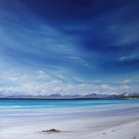 Empty Shore Luskentyre oil painting by Allison Young