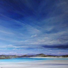 Low Tide Luskentyre oil painting by Allison Young