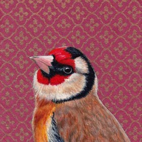 The Charm of the Goldfinch, painting by Stanley Bird SB9