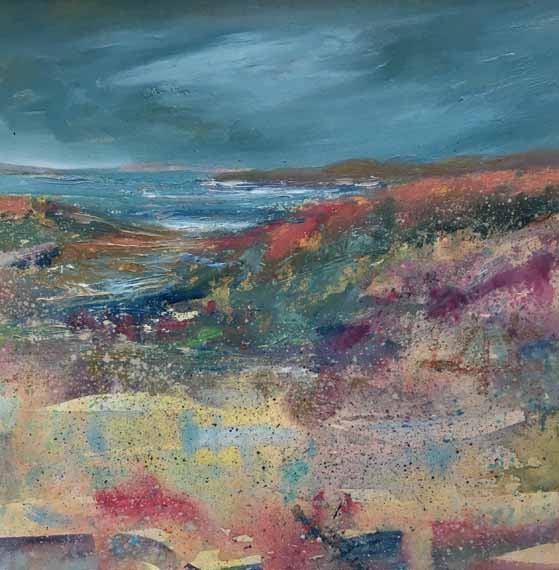 Breezy Day, painting by Morag Stevenson