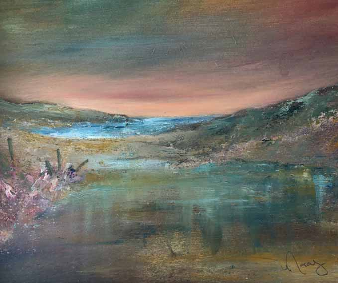 Reflection, painting by Morag Stevenson