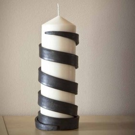 steel candle holder by James Ritchie