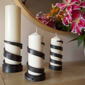 Steel candle holders by James Ritchie