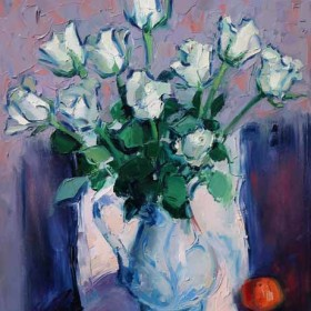 Roses in a Glasgow Jug