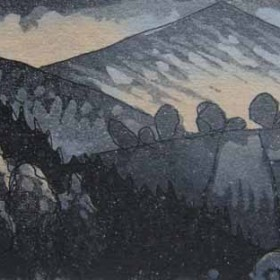 Morven, aquatint etching by Kitty Watt
